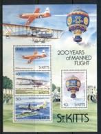 St Kitts 1983 Manned Flight Bicentenary MS MUH - St.Kitts Y Nevis ( 1983-...)