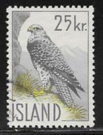 Iceland Scott # 323 Used Gyrfalcon, 1960 - 1944-... Republique
