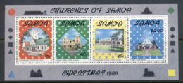 Samoa 1988 Xmas Muh MUH - Samoa