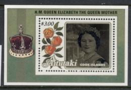 Aitutaki 1985 Queen Mother 85th Birthday MS MUH - Aitutaki