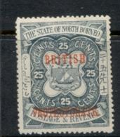North Borneo 1901-05 Opt, British Protectorate 25c MLH - North Borneo (...-1963)