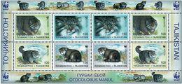 Tajikistan 1996 MiNr. 94 - 97  Tadschikistan WWF Pallas's Cats Manul M/sh  MNH** 30,00 € - Tadjikistan