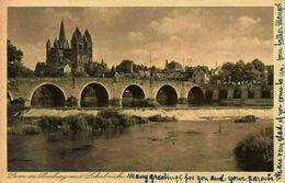 Dom Zu Limburg Mit Lahnbrucke Bridge River Cathedral Postcard - Otros