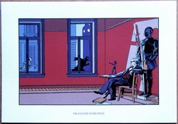 François SCHUITEN : Hommage à Edgar P. Jacobs > Sérigraphie 33 X 23 Cm (Archives Internationales) - Sérigraphies & Lithographies