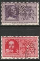Italy Sc D15-D16 Set Used - 1900-44 Vittorio Emanuele III