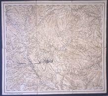 Kosovo Albania Ottoman Period Cloth Map 1300(1883) Pristina Kocani - Mapas Geográficas