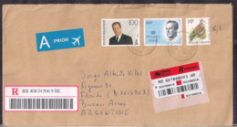 Belgique - Lettre - Air Mail - 2007- > Argentina - Cygnus - Belgien