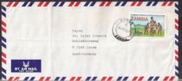 Zambia - Lettre - 1977 - Envoyé En Allemagne - Cygnus - Zambia (1965-...)