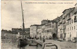 31nh 1947 CPA - VILLEFRANCHE SUR MER - LE QUAI AMIRAL COURBET - Villefranche-sur-Mer