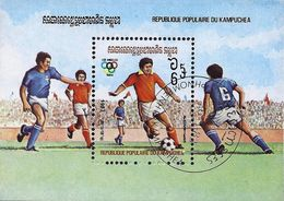 Kampuchea 1983 - Mi Bl 128 - YT BF 35 ( Los Angelès Olympics : Football ) - Kampuchea
