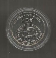 Monnaie Commémorative , EURO , Portugal , 100 Anos Submarino Espadarte ,1913-2013 , 2.5 €, Republica Portuguesa, 3 Scans - Portugal