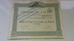 POLDERS DE L'OUEST (mont Saint Michel) 1881 - Actions & Titres