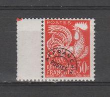 FRANCE / 1953-1959 / Y&T Préo N° 115 ** : Coq 30F Orange X 1 Avec Interpanneau à G - Precancels