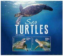094.TUVALU 2014 STAMP M/S SEA TURTLES .MNH - Tuvalu