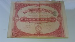 CHOCOLAT CARPENTIER (1906) - Actions & Titres
