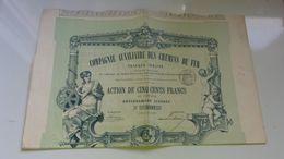 COMPAGNIE AUXILIAIRE DES CHEMINS DE FER (1889) - Actions & Titres