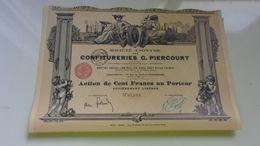 CONFITURES G. PIERCOURT (imprimerie RICHARD) - Actions & Titres