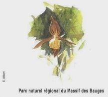 FLEUR L ORCHIDEE DU PARC NATUREL DU MASSIF DES BAUGES SAVOIE FRANCE, PAP ENTIER POSTAL FLAMME NEOPOST 2008, A VOIR - Orchidées
