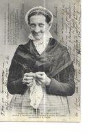 BATZ SUR MER  FEMME   COIFFE VUE DE FACE   TEXTE LOUIS PAPIN  TIRAGE 1900  DEPT 44 - Batz-sur-Mer (Bourg De B.)