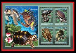 086. GRENADA 2014 STAMP S/S TURTLES, MARINE FAUNA. MNH - Grenada (1974-...)