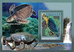 094. GRENADA 2014 STAMP M/S TURTLES,CRABS, MARINE FAUNA. MNH - Grenada (1974-...)