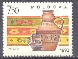 1992. Moldova, Handicraft, 1v, Mint/** - Moldawien (Moldau)