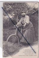 Thaon Les Vosges (88) Madame Delait ,cycliste.Membre Du Cycle Thaonnais (N°6)(Femme à Barbe) - Thaon Les Vosges