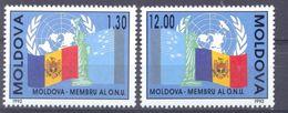 1992. Moldova - Member Of UNO, 2v,  Mint/** - Moldawien (Moldau)