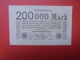 Reichsbanknote 200.000 MARK 1923 SANS NUMEROS CIRCULER (B.16) - [ 3] 1918-1933 : República De Weimar