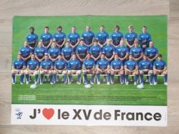 Poster J'aime Le XV De France - FFR - Rugby