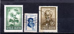 ARGENTINE     1970-73  Y. T. N° 865A  à  870A  Incomplet  Oblitéré - Usati