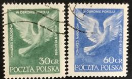 Polska - Poland - Polen - P1/7 - (°)used - 1952 - Congres In Wenen - Michel Nr. 789#790 - Gebraucht