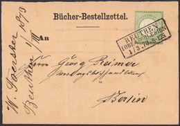 BRUSTSCHILD Nr. 2a Druckbesonderheit Auf Bücher-Bestell-Zettel Preussen-Ra3 BEUTHEN I. OBERSCHLESIEN Gepr. Sommer (hk20) - Briefe U. Dokumente