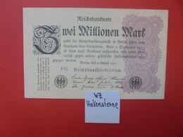 Reichsbanknote 2 MILLIONEN MARK 1923 VARIANTE FILIGRANNE CIRCULER (B.16) - 2 Millionen Mark