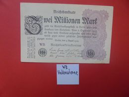 Reichsbanknote 2 MILLIONEN MARK 1923 VARIANTE FILIGRANNE CIRCULER (B.16) - [ 3] 1918-1933 : Repubblica  Di Weimar