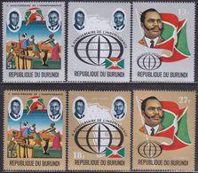 Burundi 879/84 - Independence + Airmail 1972 - MNH - Burundi