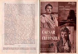"""Anciens Programme Allemand Illustrierte Film Bühne N°61 """" Caesar Und Cleopatra """" Vivien Leigh & Claude Rains - 1945 - Werbetrailer"""