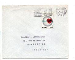 BELGIQUE LETTRE POUR LA FRANCE 1972 - Belgium