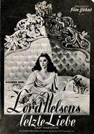 "Anciens Programme Allemand Illustrierte Film Bühne N°378 "" Le Dernier Amour De Lord Nelson "" Alexander Korda 1941 - Publicidad"