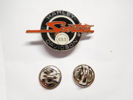 Superbe Pin's En EGF , Moto Harley Davidson Sportster - Motorfietsen