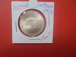HONGRIE 10 FORINT 1956 ARGENT (A.11) - Hungría