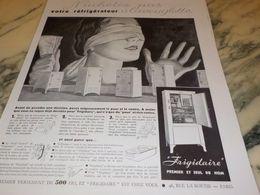 ANCIENNE PUBLICITE N ACHETEZ PAS A L AVEUGLE FRIGIDAIRE 1933 - Advertising