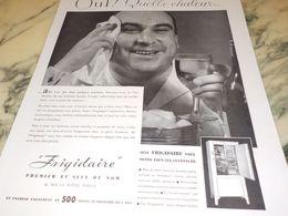 ANCIENNE PUBLICITE OUF QUELLE CHALEUR FRIGIDAIRE 1933 - Advertising