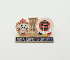 "Badge Pin:  UEFA Europa League 2010-11  CSKA Moscow Russia - "" AC Sparta Praha "" Czech Republic - Football"