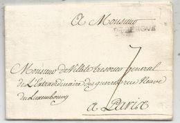 NORD MARQUE DE BERGUE 5 MARS 1749 LETTRE POUR MR VILLETE TRESORIER GENERAL EXTRAORDINAIRE DES GUERRES A PARIS - Marcophilie (Lettres)