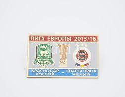 """Badge Pin:  UEFA Europa League 2015-16 FK Krasnodar Russia - """" HJK Helsinki """" Finland - Football"""