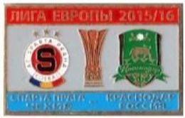 "Badge Pin:  UEFA Europa League 2015-16 "" AC Sparta Praha "" Czech Republic - FK Krasnodar Russia - Football"