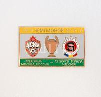 "Badge Pin: UEFA Champions League 2015-16 CSKA Moscow Russia - "" AC Sparta Praha "" Czech Republic - Football"