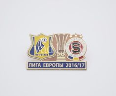 "Badge Pin:  UEFA Europa League 2016-17 FK Rostov Russia - "" AC Sparta Praha "" Czech Republic - Football"
