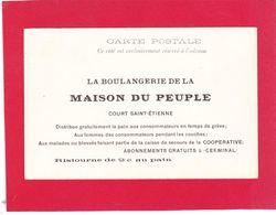 Court Saint-Etienne - Carte Publicitaire -boulangerie Maison Du Peuple -  Recto Namur Panorama Avec La Cathédrale - Court-Saint-Etienne